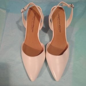 Christian Siriano for Payless White Heels - 6.5